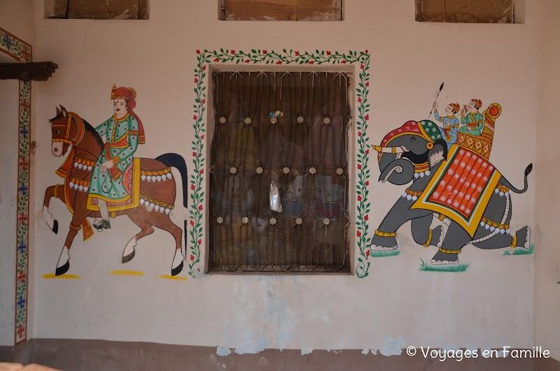 Peintures murales bundi