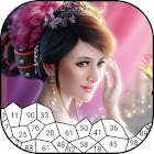 Princess Puzzle Drawing By Numbers icon