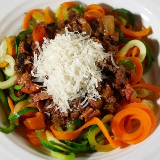 Low Calorie Spaghetti Bolognese with Vegetable Spaghetti Recipe