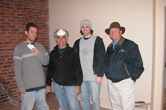 Photo: March 2006 - Month 31: Bank visit! Andrew, Raymond and Matthew Saba with banker Paul Bice