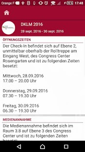 DKLM Kongress-App 2016- screenshot thumbnail