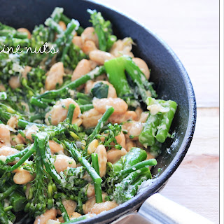 Broccolini With Pine Nuts & Butter Beans
