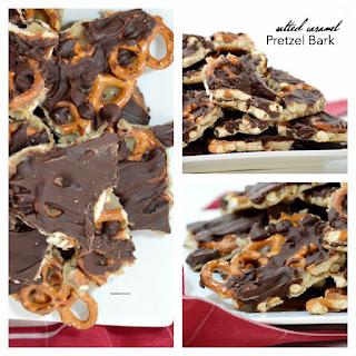 Salted Caramel Pretzel Bark Recipe