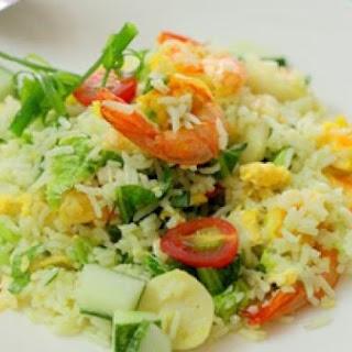 Prawn and Fish Ball Fried Rice
