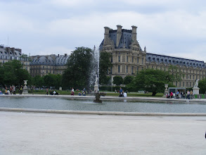 Photo: The fountain at the Louvre end of the Tuileries is tranquil today.