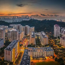 Aurora sunrise by Jun Hao - City,  Street & Park  Skylines ( landscape 2016 )
