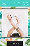 Good Vibes Going Frame - Pinterest Pin item