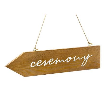 Träskylt pil - ceremony