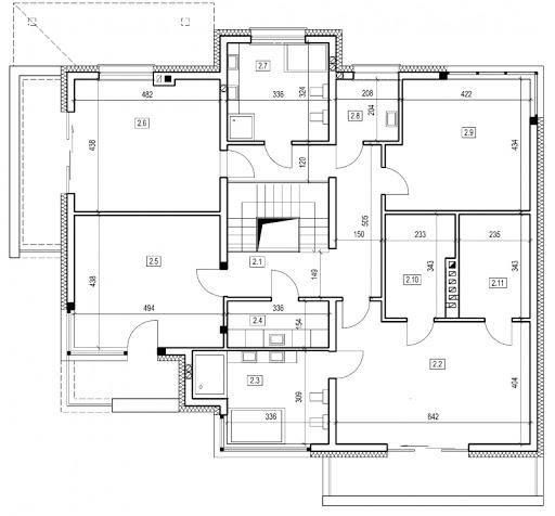 DN 081 - Rzut piętra