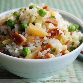 Vegetarian BBQ Pork Fried Rice