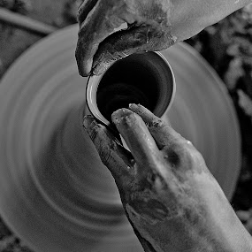 Delicate touch by Gourab Mitra - Products & Objects Industrial Objects ( hand, wheel, delicate, pottery, pot )