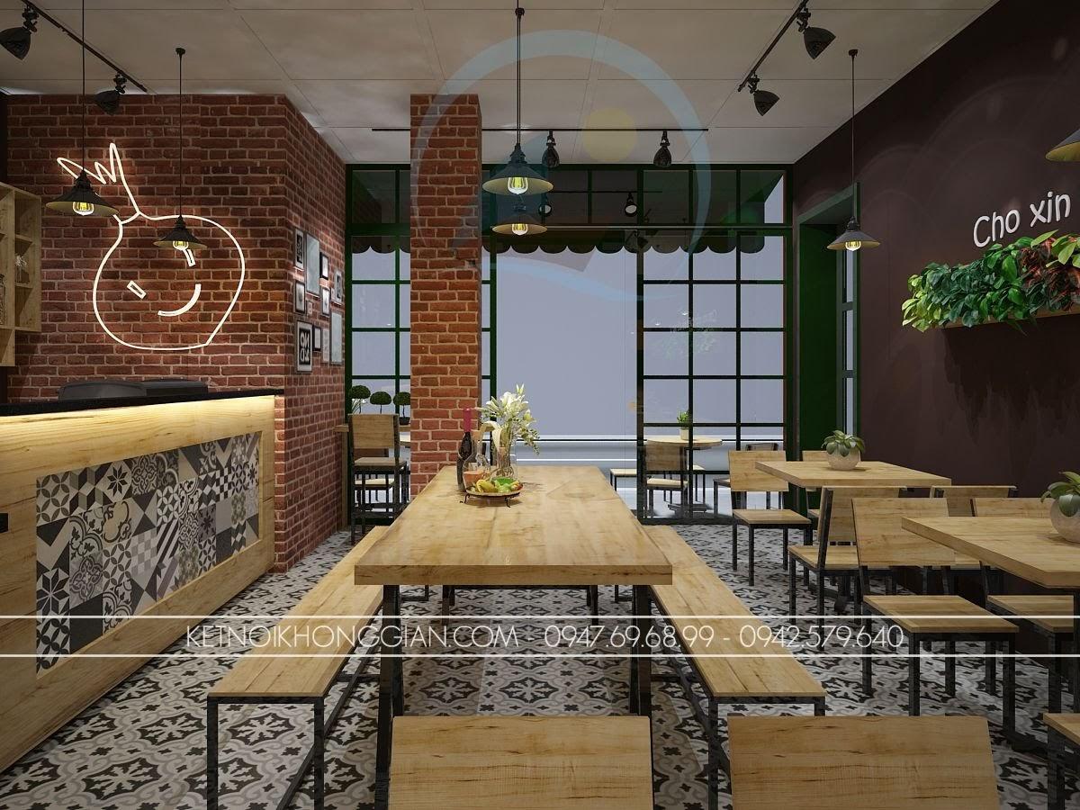 thiết kế nội thất quán cafe hợp lý