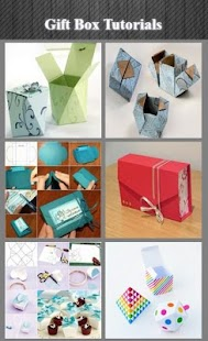 Dárkové krabičky Tutoriály - náhled