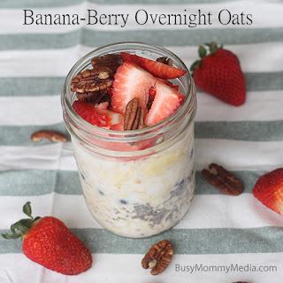 Banana-Berry Overnight Oats.