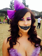 Photo: Cheshire Cat face paint makeup for music festival Riverside, Ca. Call to Book Tess at 888-750-7024