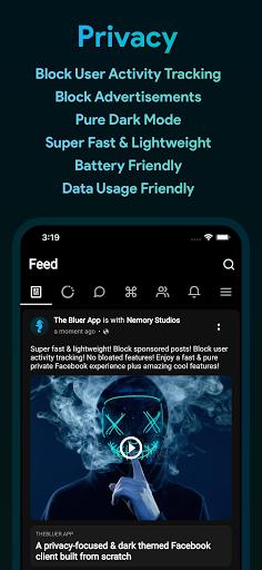 Bluer for Facebook and Messenger 1.6.8 screenshots 1