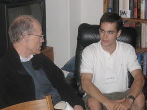 Photo: Professor Mark Satterthwaite and  graduate student John O'Leary