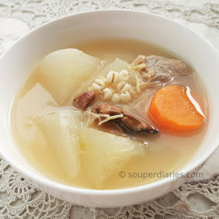 Winter Melon with Barley Soup