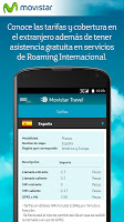 screenshot of Movistar Travel