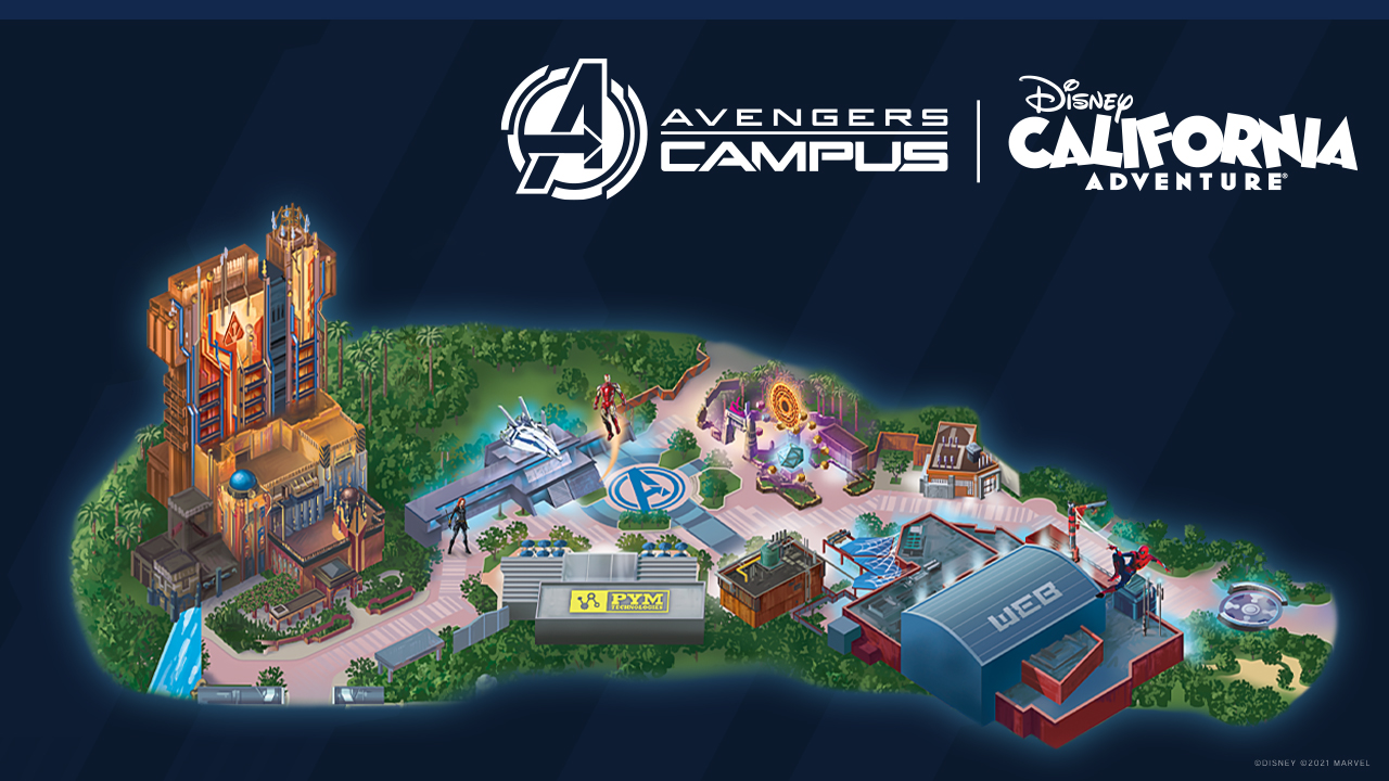 Avengers Campus layout