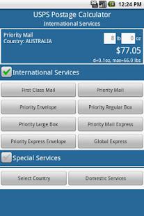 Postage Calculator USPS - screenshot thumbnail