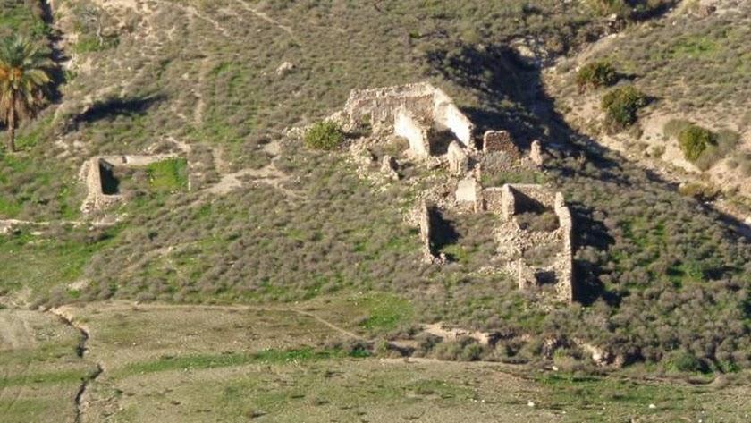 Estado actual del corutijo el Ricardillo, junto la Cala de San Pedro, en Níjar.