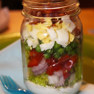 Southern 7 Layer Salad in a Mason Jar.