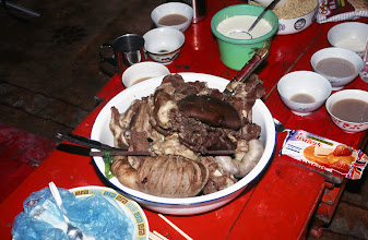 Photo: 03477 シリンホト近郊/ノルボ家/羊水煮料理