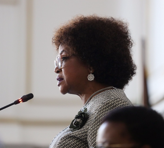 Speaker Baleka Mbete announces that Tuesday's vote on the motion of no confidence in President Jacob Zuma will be held by secret ballot. Picture RUVAN BOSHOFF
