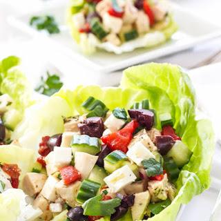 Greek Chicken Salad Lettuce Cups