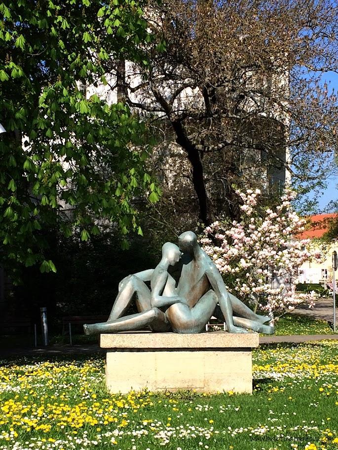 Statue in the city park, Piešťany, Slovakia