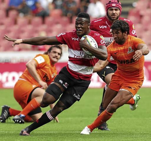 Run like the wind: Hacjivah Dayimani will start at No8 for the Lions on Friday. Picture: BACKPAGEPIX