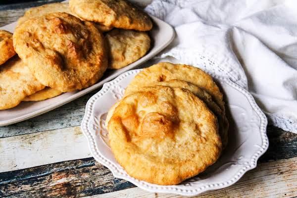 Cherokee Fry Bread On A Plate.