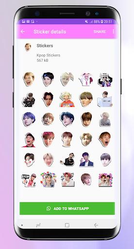 Stickers for whatsapp kpop - WAStickerApps Pro 1.3 screenshots 4