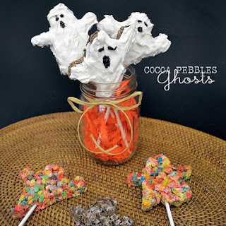 Cocoa Pebbles Ghosts
