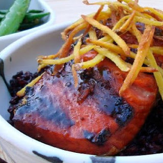 Sweet-N-Smoky Salmon With Ginger Mahogany Rice