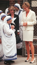 Photo: Mother Teresa, left, says goodbye to Princess Diana after receiving a visit from her Wednesday, June 18, 1997, in New York.  Princess Diana met privately for 40 minutes with Mother Teresa at The Missionaries of Charity in the South Bronx section of New York. Mother Teresa told reporters, outside the Bronx convent she founded, that she feels good.   (AP Photo/Bebeto Matthews)