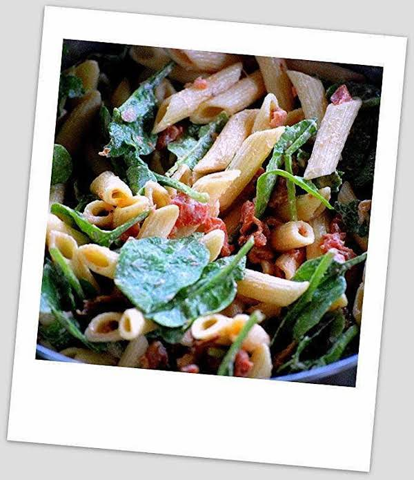 ~ Bacon - Spinach - Tomato -  Pasta Salad ~ Recipe