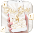 Pure Gold Keyboard Theme apk