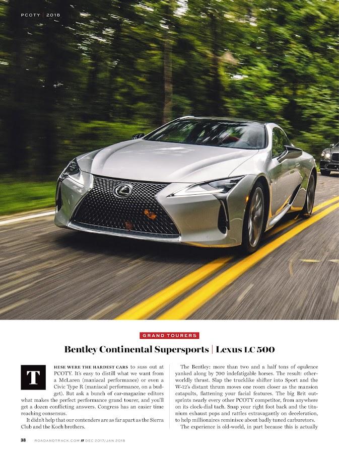 Road & Track Magazine- screenshot