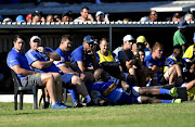 Stormers bench during the Super Rugby friendly match between DHL Stormers and Vodacom Bulls at Boland Stadium on February 03, 2018 in Wellington, South Africa.