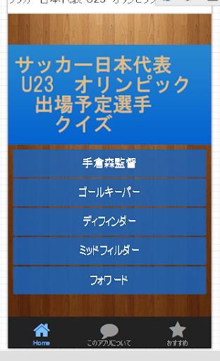 サッカー日本代表 U23 オリンピック出場予定選手クイズ