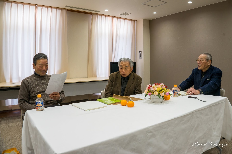 座談会の様子(右:篠原常夫氏、中:田中盛亮氏、左:黄倉良二氏)
