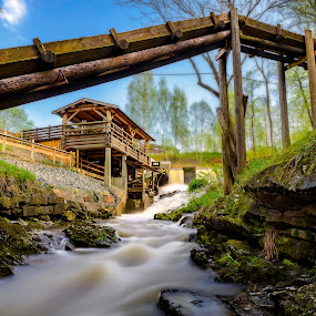 Old SawMill by Patrick Janson - Buildings & Architecture Other Exteriors ( water, mill, stream, waterfall, sawmill )