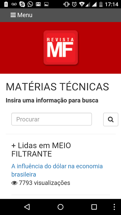 REVISTA MEIO FILTRANTE- screenshot