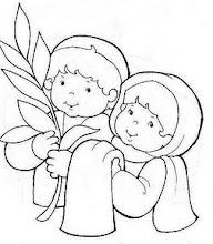 Photo: niños con ramos