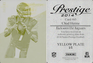 Photo: Chad Henne 2014 Prestige Printing Plates Yellow (1/1)