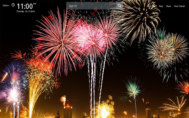 install new year fireworks wallpapers and get high quality images for a new tab