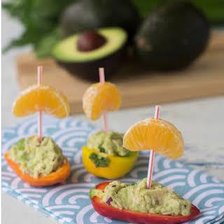 Tuna Salad Stuffed Mini Pepper Boats.