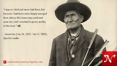 Photo: I was no chief and never had been, but because I had been more deeply wronged than others, this honor was conferred upon me, and I resolved to prove worthy of the trust. —Geronimo (Jun 16, 1829 - Feb 17, 1909), Apache Leader